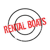 Rental Boats rubber stamp Royalty Free Stock Photography