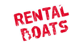 Rental Boats rubber stamp Stock Photo