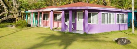 Rental cabanas  corn island nicaragua. Colorful rental cabins cabanas big corn island nicaragua in central america Stock Photos