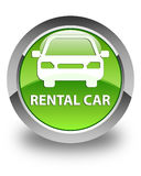 Rental car glossy green round button Royalty Free Stock Photos