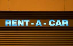 Rental car sign Stock Photos