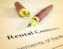 Rental Contract. With a pen royalty free stock image