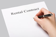 Rental contract Stock Photos