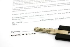 Rental contract Stock Images