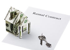 Rental contract is a blank Royalty Free Stock Images