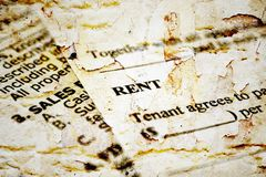 Rental  contract Royalty Free Stock Photo