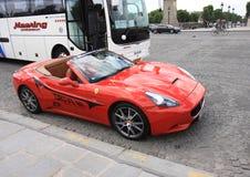 Rental Ferrari waiting for customer Stock Images