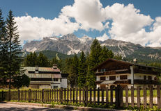 Rental homes in Dolomites Stock Photography