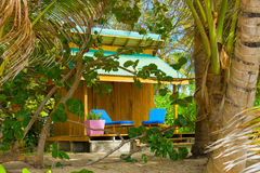 A rental house at friendship beach, bequia Royalty Free Stock Images