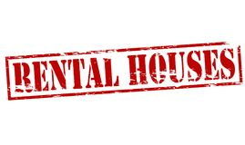 Rental houses. Rubber stamp with text rental houses inside,  illustration Royalty Free Stock Images