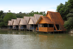 Rental houses on water front Stock Image
