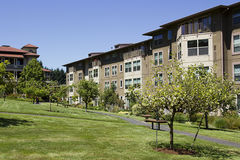 Rental Housing. The residential complex is designed for rental Stock Photography