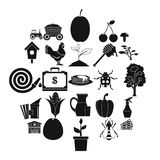 Rental icons set, simple style. Rental icons set. Simple set of 25 rental vector icons for web isolated on white background Royalty Free Stock Photos