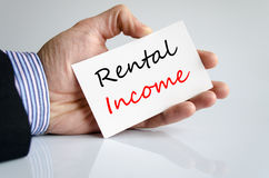Rental income text concept Royalty Free Stock Photos