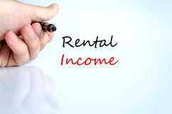 Rental income text concept Stock Image