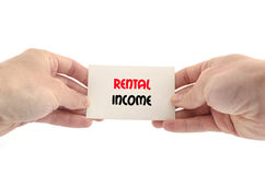 Rental income text concept Royalty Free Stock Photo