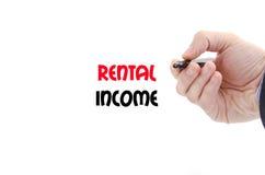 Rental income text concept Stock Photos