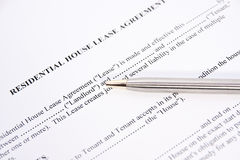 Rental lease agreement Royalty Free Stock Photo