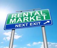 Rental market concept. Illustration depicting a sign with a rental market concept Royalty Free Stock Photo