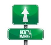 Rental market signpost illustration design Royalty Free Stock Photography