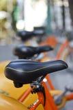 Rental orange bike in Taipei Royalty Free Stock Images