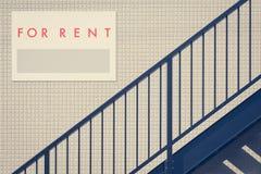 Rental Real Estate Sign Stock Image