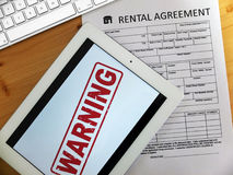 Rental warning Royalty Free Stock Photography