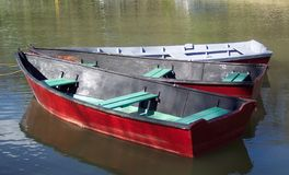 Rentals. Photo of rental rowboats along the C&O Canal in Washington D.C Royalty Free Stock Photography