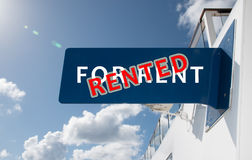 RENTED sign Stock Photography