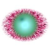Rentgenfoto Geïsoleerd elliptisch dierlijk rood oog met grote leerling en heldere retina royalty-vrije illustratie