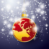 Rentier Bauble Stars Background Royalty Free Stock Image