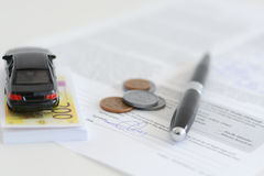 Renting or buying a car concept Royalty Free Stock Photography