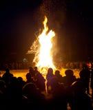 Rentvå brand för orientaliskt nytt år Arkivbild