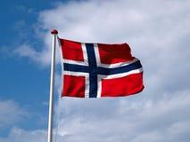 Renunciando a bandeira de Noruega Imagem de Stock