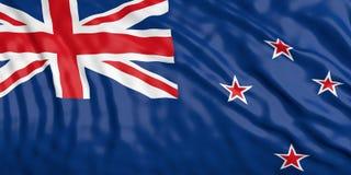 Renunciando a bandeira de Zealand ilustração 3D ilustração royalty free