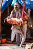 Renunciate incondicional en el Kumbha Mela en la India Fotos de archivo