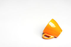 Renversé au-dessus de la tasse de café d'expresso Image stock