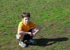 Renversement de petit garçon Images libres de droits