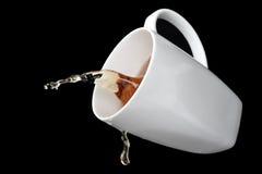 Renversement du café photo libre de droits