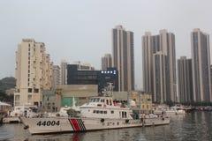 Renverser Marine Police Warship en Chine SHENZHEN photos libres de droits
