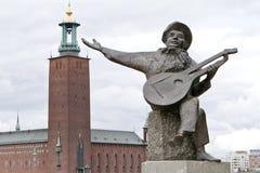 Renversez la statue de Taubes à Stockholm Photos libres de droits