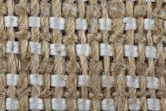 Renvoyez, tissu rugueux fait de matériel naturel, plan rapproché Photographie stock