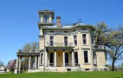 Renwick Mansion. This is a Spring picture of the Renwick Mansion on a bluff high above the Mississippi River in Davenport, Iowa