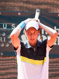 Renzo Olivo. Is desperate during a match of ATP Genoa Open Challenger 2011 (Italy Stock Photo