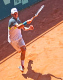 Renzo Olivo. A great shot for Renzo Olivo during a match of ATP Genoa Open Challenger 2011 (Italy Stock Photography