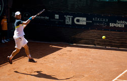 Renzo Olivo playing at ATP Genoa Open Stock Photography