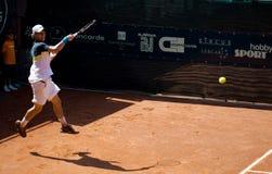 Renzo Olivo playing at ATP Genoa Open. Renzo Olivo (ARG) playing at ATP Genoa Open Challenger 2011 (Italy Stock Photography