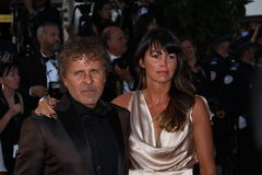 Renzo Rosso and Arianna Lessi. CANNES, FRANCE - MAY 23: Renzo Rosso and Arianna Lessi attends the 'On The Road' Premiere during the 65th Annual Cannes Film Royalty Free Stock Image
