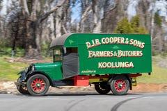 1925 Reo SpeedWagon Truck. Adelaide, Australia - September 25, 2016: Vintage 1925 Reo SpeedWagon Truck driving on country roads near the town of Birdwood, South Stock Photo