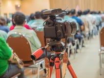 Reocrd VDO della macchina fotografica nella sala riunioni Fotografia Stock